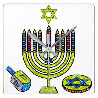 Hanukkah Menorah Dreidel Gelt Clock