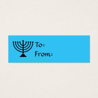 Hanukkah Menorah Gift Tags Mini Business Card