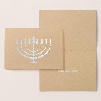 Hanukkah Menorah Holiday Custom Card