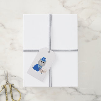Hanukkah Menorah Kitty Pack Of Gift Tags