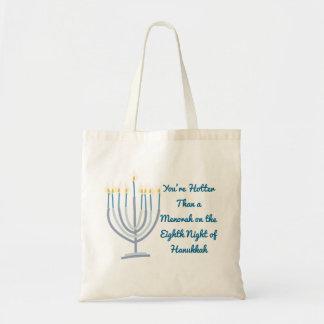 Hanukkah Menorah Tote Bag Funny Gag Gift Fashion