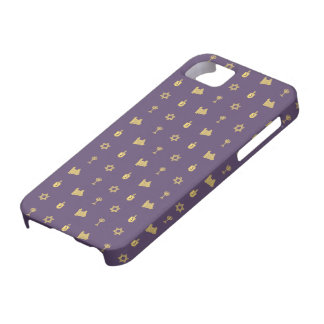 Hanukkah Motif purple iPhone 5 Barely There iPhone 5 Case