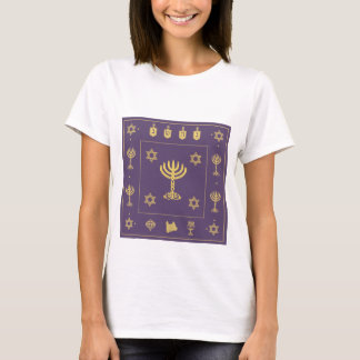 Hanukkah Motif purple Ladies Fitted T-shirt