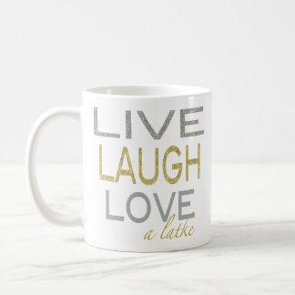 """Hanukkah Mug """"Live Laugh Love a latke"""""""