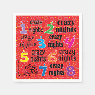 "Hanukkah Napkin Personalize ""8 Crazy Nights/Red"