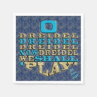 """Hanukkah Napkins Personalize """"Dreidel Play"""" Paper Napkins"""