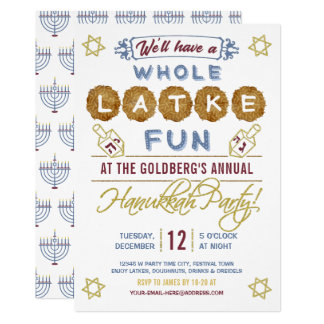 Hanukkah Party Funny | Whole Latke Fun Card