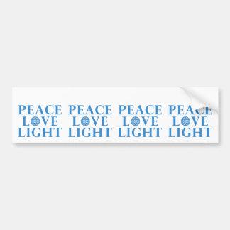 Hanukkah - Peace Love Light Bumper Sticker