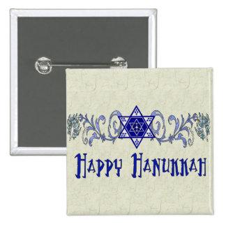 Hanukkah Peace Star 2 Inch Square Button
