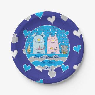 """Hanukkah Pets Paper Plates 7"""" Personalize 7 Inch Paper Plate"""