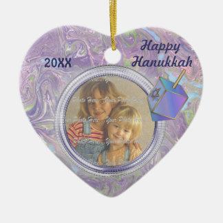 Hanukkah Photo Greetings Ceramic Ornament