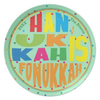 "Hanukkah Plate 10"" Round ""Hanukkah Is Funukkah"""
