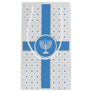 Hanukkah Polka Dot Wrapped Gift Small Gift Bag