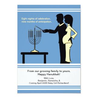 "Hanukkah Pregnancy Announcement Cards 5x7 5"" X 7"" Invitation Card"