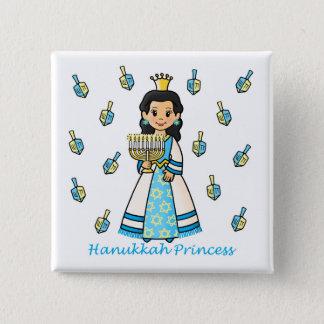 Hanukkah Princess Blank 2 Inch Square Button