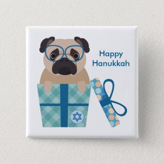 Hanukkah Pug Gift 2 Inch Square Button