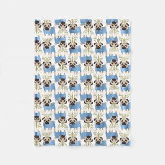 Hanukkah Pugs (8).jpg Fleece Blanket