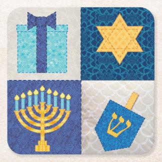 Hanukkah Quilt Coasters