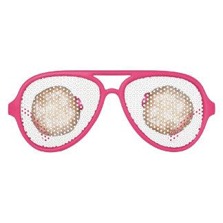 Hanukkah Raspberry Jelly Sufganiot Donut Doughnut Aviator Sunglasses