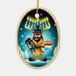 Hanukkah Reindeer Christmas Tree Ornaments