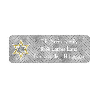 "Hanukkah Return Labels ""Elegant Menorah"""