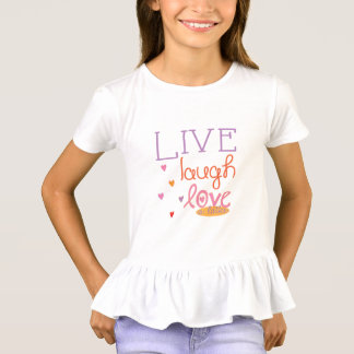 "Hanukkah Ruffle T-Shirt ""Live Laugh Love a Latke"""