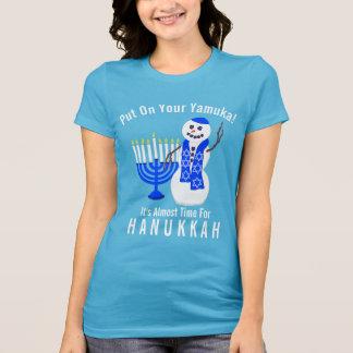 Hanukkah Snowman Cute Put On Your Yamuka Funny T-Shirt