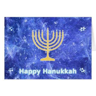 Hanukkah Snowstorm Menorah Cards