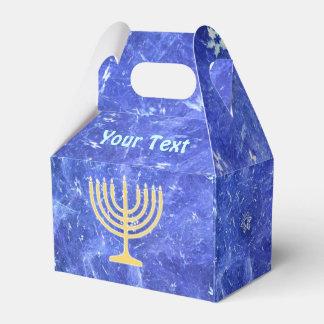 Hanukkah Snowstorm Menorah Party Favor Box