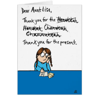 Hanukkah Spellings Hanukkah Joke Greeting Card