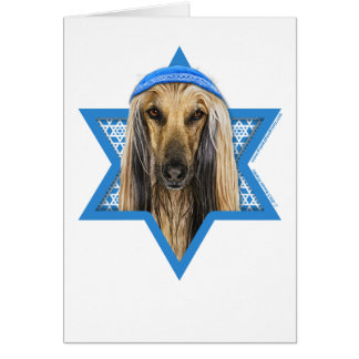 Hanukkah Star of David - Afghan Card