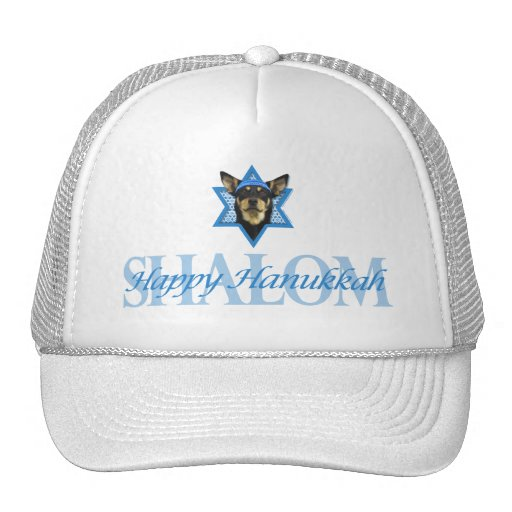 Hanukkah Star of David - Australian Kelpie Hat