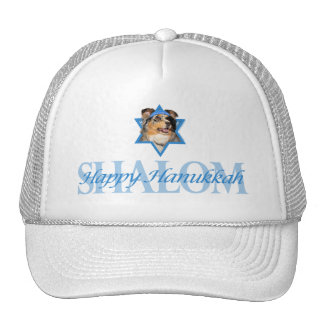 Hanukkah Star of David - Australian Shepherd Mesh Hat