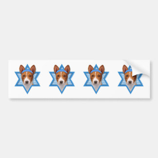 Hanukkah Star of David - Basenji Bumper Stickers
