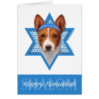 Hanukkah Star of David - Basenji Card