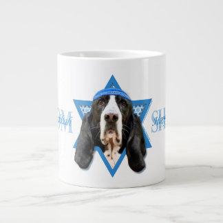 Hanukkah Star of David - Basset Hound - Jasmine Large Coffee Mug