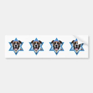 Hanukkah Star of David - Boxer - Vindy Bumper Sticker