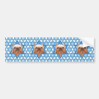 Hanukkah Star of David - Brussels Griffon Bumper Sticker