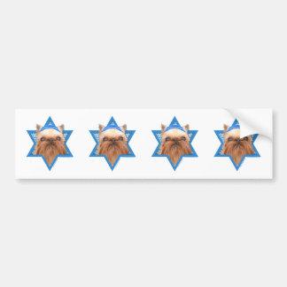 Hanukkah Star of David - Brussels Griffon Bumper Stickers