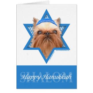 Hanukkah Star of David - Brussels Griffon Card