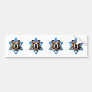 Hanukkah Star of David - Bulldog Bumper Sticker