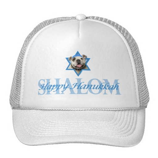 Hanukkah Star of David - Bulldog Trucker Hat