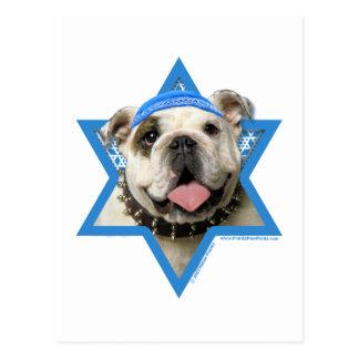 Hanukkah Star of David - Bulldog Postcard