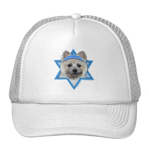 Hanukkah Star of David - Cairn Terrier - Teddy Bea Mesh Hats