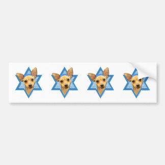 Hanukkah Star of David - Chihuahua Bumper Sticker