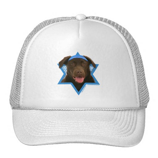 Hanukkah Star of David - Chocolate Labrador Trucker Hat