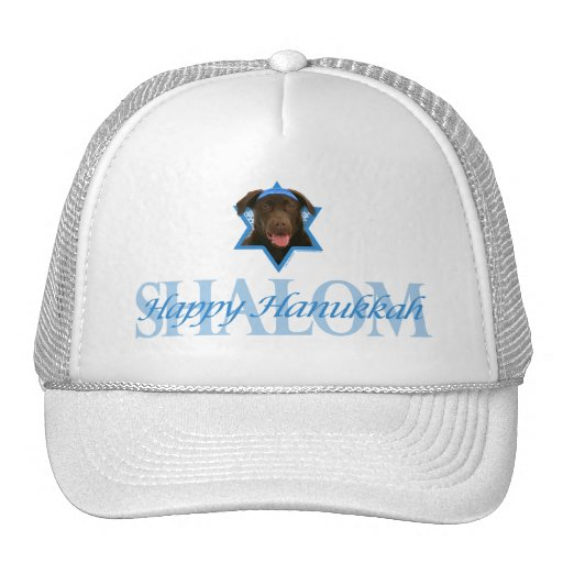 Hanukkah Star of David - Chocolate Labrador Hats