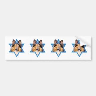 Hanukkah Star of David - Collie Bumper Sticker