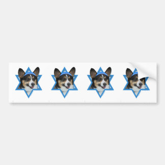Hanukkah Star of David - Corgi Bumper Sticker