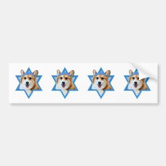 Hanukkah Star of David - Corgi - Owen Bumper Sticker